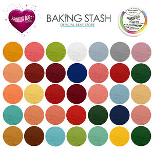 Details About Rainbow Dust Plain And Simple Edible Matt Dusting Powder For Cake Decorating