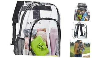 Clear Backpack, Heavy Duty See Through Backpack, Transparent Large Bookbag for