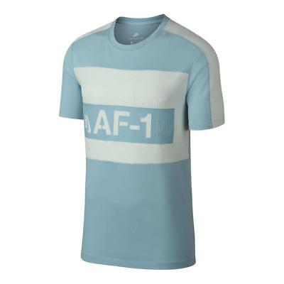 Nike NSW moderne AF1 Tee hommes nouveau bleu clair T shirt blanc AH6876 452 | eBay
