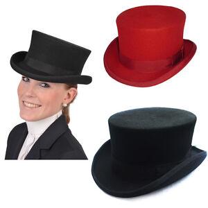 Victorian Women s 100% Wool Black Felt Hat Mad Hatter 4.5