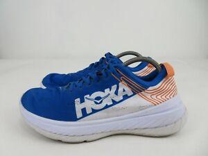 Hoka-One-One-Carbon-X-Lightweight-Blue-Orange-Running-Athletic-Shoes-Mens-11-M