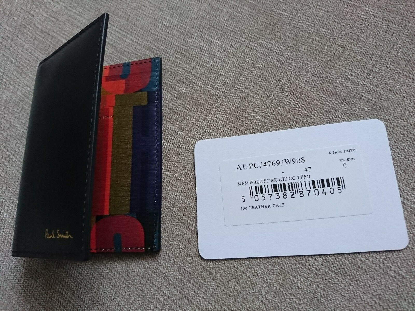 Paul Smith Wallet Wallet Wallet -BNWT Typography Leather Card Holder   | Offizielle  27a636