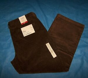 Tamano 38x29 Para Hombres Calce Clasico Frente Plano Croft Barrow Pantalones De Pana Marron Ebay