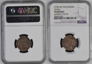 1752-62 Italy Soldo Venice Copper Ngc 3930914-001 Starke Verpackung