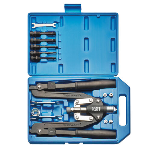 KRAFTPLUS® K.105-2401 Profi Scheren-Nietzange Blindnieten Zange M4-M10 Alu+Stahl
