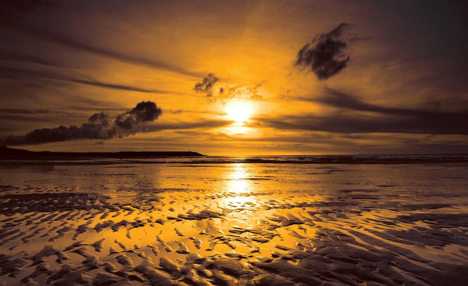 VLIES Fototapete-SONNENUNTERGANG-(261)-Meer Strand Dünen Beach Karibik Südsee