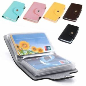Candy-Color-24-Card-Slots-Double-Side-Plastic-Business-Card-Holder-Card-Bag