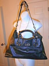 Coach Black Leather Madison Sabrina Convertible Strap Satchel Handbag #12949