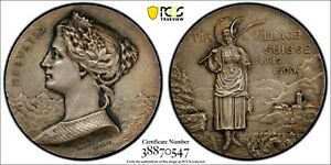 Switzerland-Confederation-Silver-1900Shooting-Medal-Paris-37mm-PCGS-SP63-R-2097b