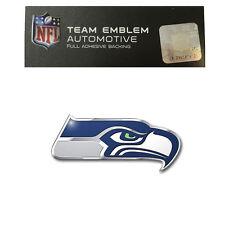 Promark New NFL Seattle Seahawks Color Aluminum 3-D Auto Emblem Sticker Decal