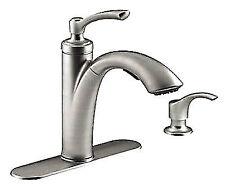 Kohler Malleco Pull Down Kitchen Faucet With Soap Dispenser R562 Ebay