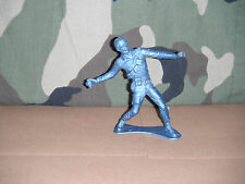 """5"""" Blue Marx American Toy Soldier 1960's Throwing Hand Grenade"""