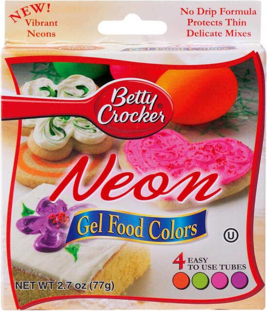 Betty Crocker Neon GEL Food Colors 2.7 Oz | eBay