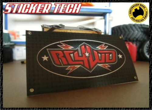 1//10 1//12 1//8 SCALE RC WORKSHOP RC4WD BLACK GARAGE ROCK CRAWLER AXIAL BANNER