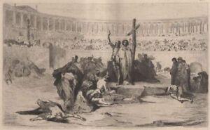 Eugene-Thirion-Les-martyrs-au-cirque-Eau-Forte-ancienne-Deblois-XIXe
