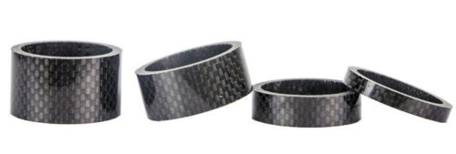 """4 Piece Carbon Spacer 5//10//15//20mm One Set  Headset Spacer 1-1//8/""""  Stem Bicycle"""