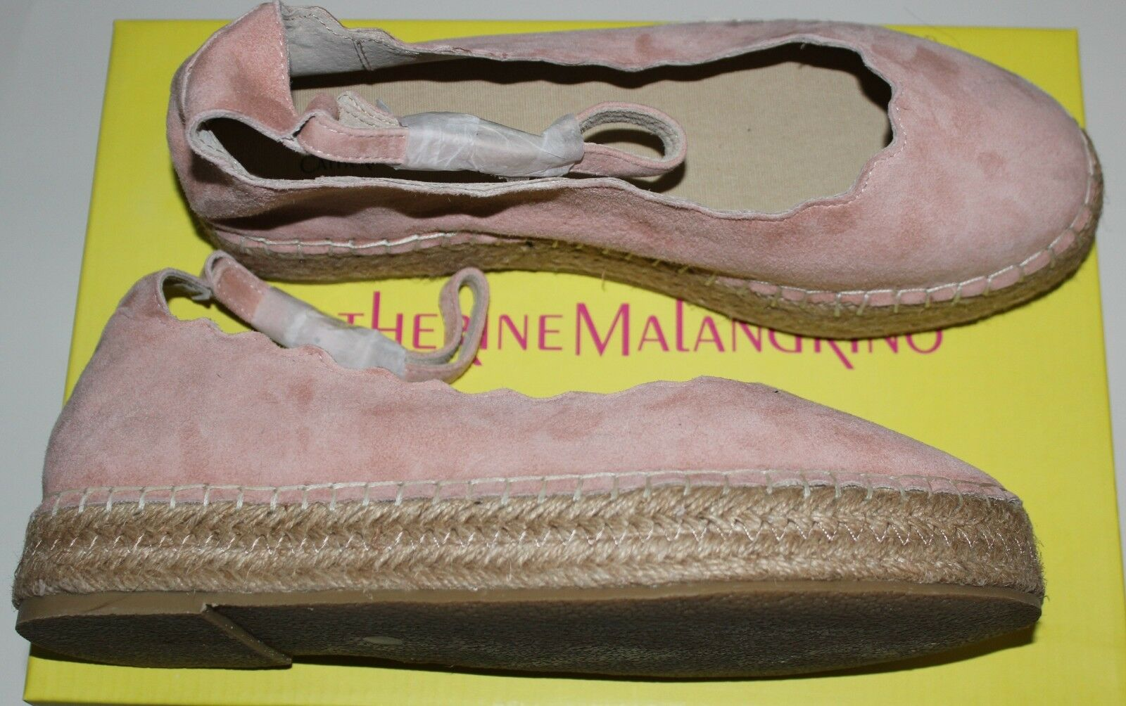 150 CATHERINE MALANDRINO AURONDY NUDE SUEDE SUEDE SUEDE ANKLE STRAP ESPADRILLE US 9 48f44f