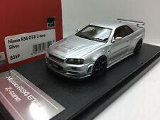 1:43 HPI 8359 NISSAN SKYLINE R34 GTR NISMO Z TUNE SILVER resin scale model car