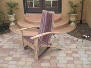 Image is loading Wine-Barrel-Adirondack-Chair-Woodworking-Plans & Wine Barrel Adirondack Chair Woodworking Plans | eBay