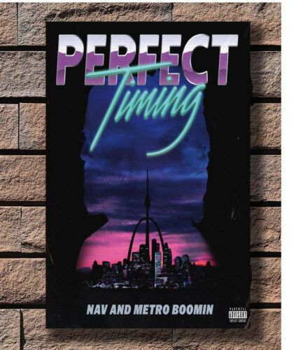 NAV Perfect Timing Rapper Music Poster Fabric 8x12 20x30 24x36 E-2715