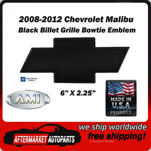 All Sales AMI 96020K Chevy 08-12 Malibu Front Bowtie Grille Emblem Without Border Black Powdercoat