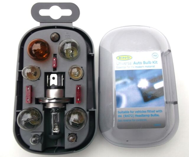 H4 Spare Bulb Kit - High Quality Ring contains 10 bulbs & Fuses (BU007)i