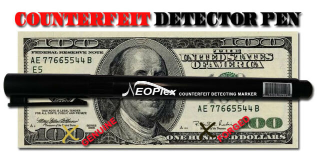 Ebay Retail Sale Online 24 Pk Fake Marker For Money Counterfeit Detector Bill Dollar Pen