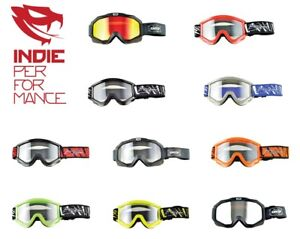Goggles-ALL-COLORS-Offroad-MX-Motocross-CLEAR-OR-MIRROR-LENS-GOOGLES