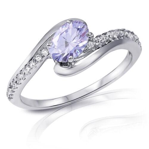 Infinity Yin Yang Oval Cut Birthstone w// Sapphire Genuine Sterling Silver Ring