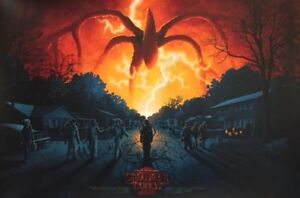 Stranger Things Season 2 Mondo Poster By Adam Rabalais Wilson Durieux Ebay Stranger things season 2 is set a year after will's return, and everything seems back to normal… but a darkness lurks just beneath. details about stranger things season 2 mondo poster by adam rabalais wilson durieux