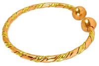 Womens Solid Copper Magnetic Cuff Bracelet Grace Medium