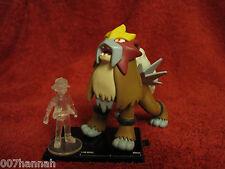 Pokemon-Figur-Set:Entei+Ash/10th Anniversary/Scale 1:30/Zukan/Yujin/F35