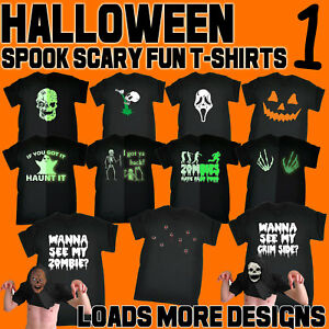 Halloween-Men-039-s-T-Shirts-Scary-Spooky-Fun-Novelty-T-Shirts-cheap-costume-Tees