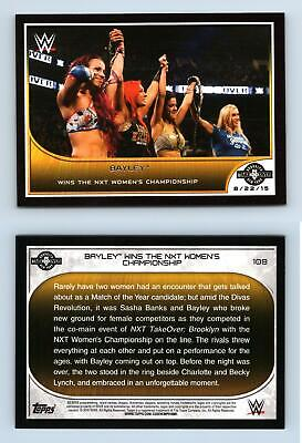 Bayley #109 WWE Road to combat 2016 TOPPS TRADING CARD