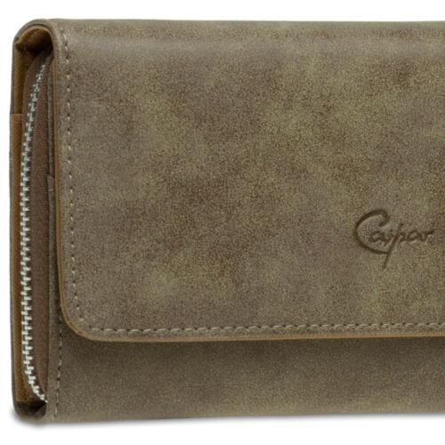 Caspar gb412 XL Da Donna Vintage Portafoglio Portafoglio portemmonaie Lang