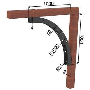 4 mm poids lourds Auvent Arc leimholzbogen Bandeau barre support Arc en tôle