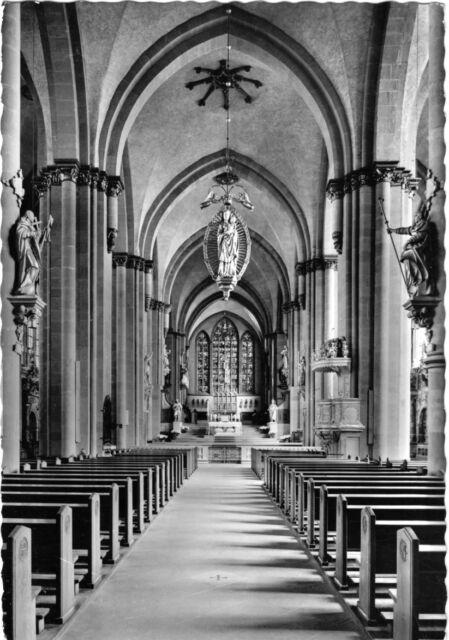 AK, Paderborn, Hoher Dom, Mittelschiff, 1966