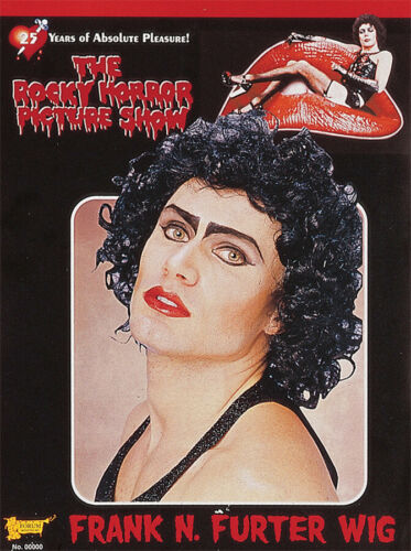 Frank N Furter Wig Rocky Horror Picture Show Black Curly Character