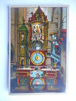 """Carte postale à système """"Strasbourg - L'horloge astronomique de la cathédrale"""""""