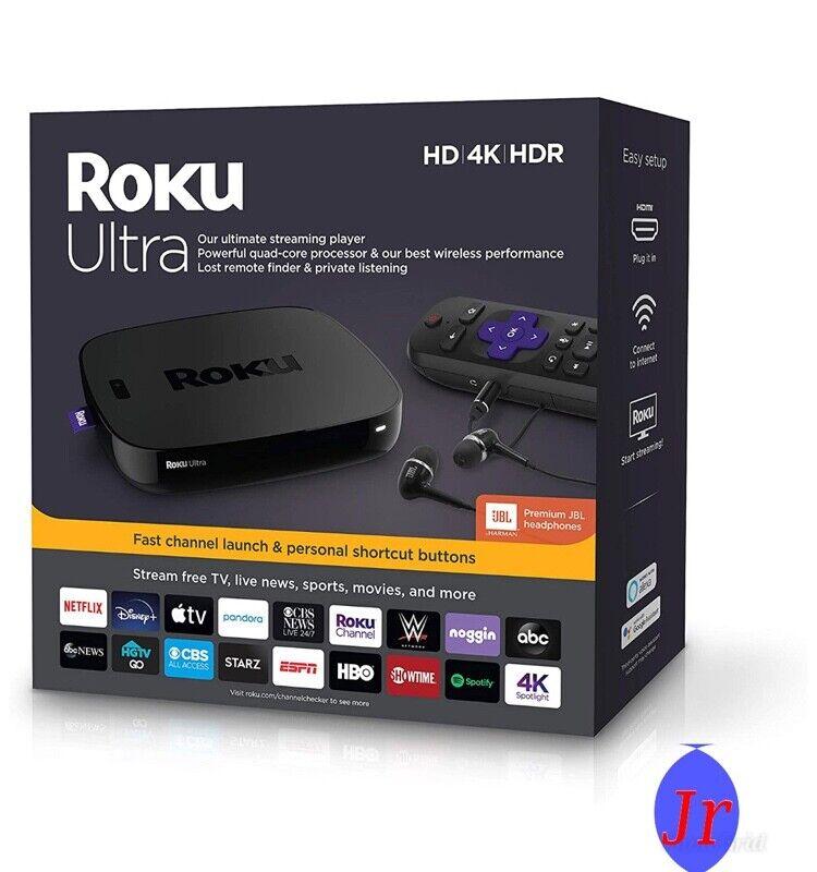 Roku Ultra Streaming Media Player 4K/HD/HDR Bundle bundle media player roku streaming ultra