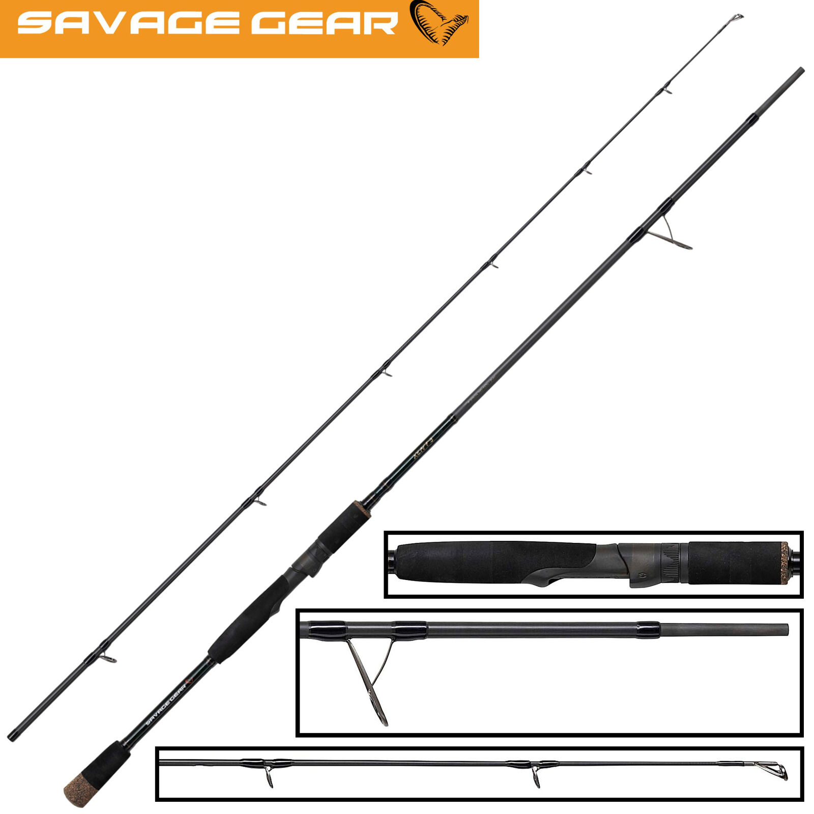 Savage Gear XLNT3 2,13m 20-60g Spinnrute zum Gummifischangeln, Raubfischrute