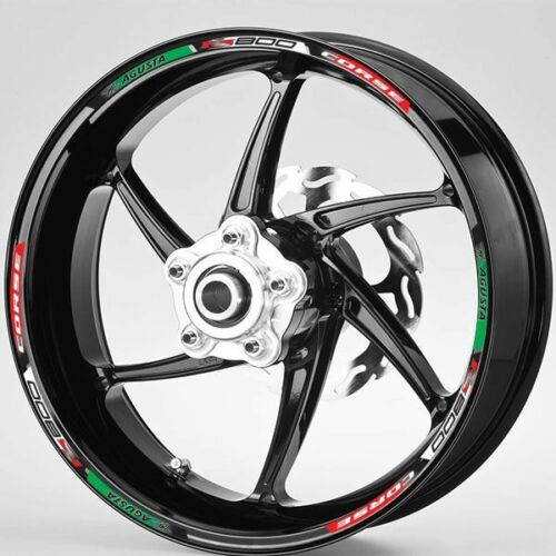 MV Agusta F3 800 Corse  Italian flag wheel rim graphics x 12