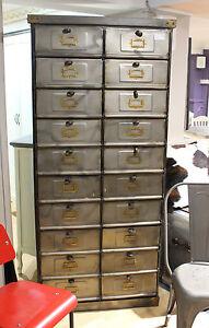 Image Is Loading Vintage Display Storage Locker Cabinet Metal
