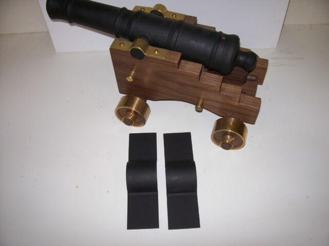 Black Powder Signal Cannon Barrel Cap Square Carriage Trunnion Clamp 2