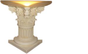 Pilar iluminado decoración pilares esculturas lámpara lámpara figuras escultura nuevo