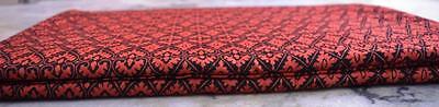 Indian 5 Yard Natural 100 %Cotton Screen Printed Sanganeri Red Print Fabric`~