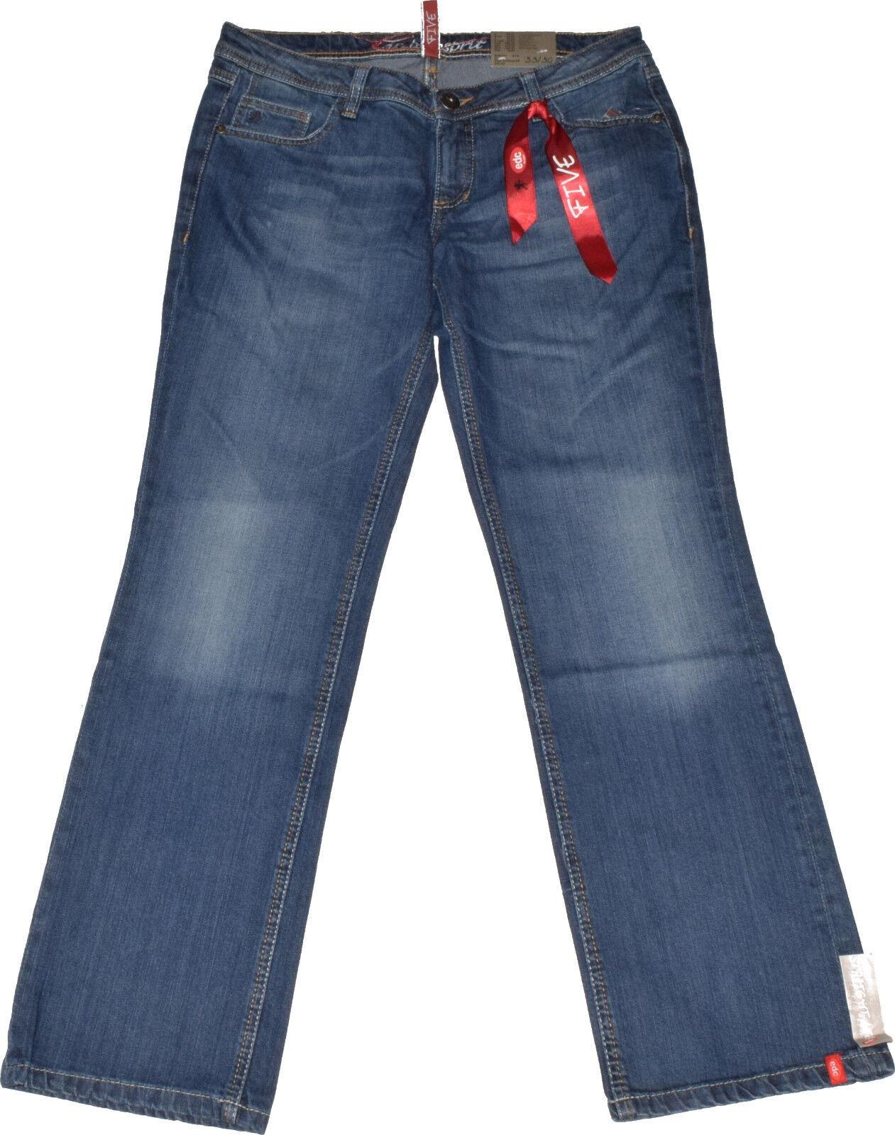 Edc by Esprit Five Jeans  Gr. 28 34  Vintage  Stretch  Used Look  NEU