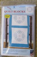 Stamped Embroidery / Cross Stitch 18 Quilt Blocks Butterflies