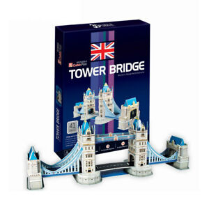 World-039-s-Great-Architecture-Tower-Bridge-41-Piece-3D-Model-DIY-Hobby-Build-Kit