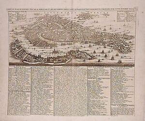 Antique map, Carte du plan de Venise